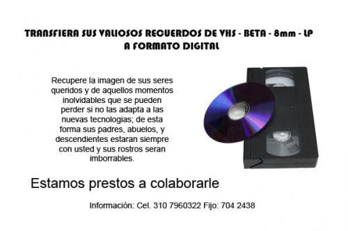 Conversion de cassettes de vhs a dvd