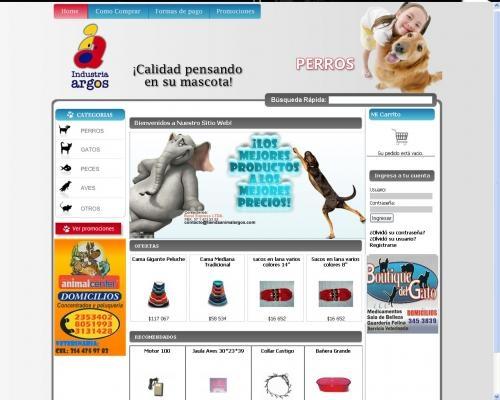 Tienda on-line de articulos para mascotas