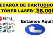 Recarga de cartuchos y Toner laser en Chapinero, Bogota. 100% Garantizado.