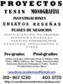 ASESORIA TESIS MONOGRAFIAS PROYECTOS PREGRADOS POSTGRADOS