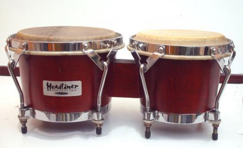 Vendo bongos headliner, en madera nazareno y herrajes cromados