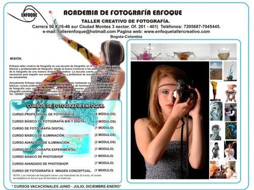 Escuela de fotografia enfoque en bogota,cursos,clases y talleres personalizados.