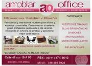 MUEBLES PARA OFICINA BOGOTA - AMOBLAR OFFICE /Tel: (57+1) 4741610