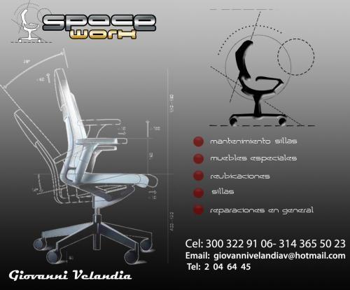 Mantenimiento reparacion sillas oficina re ubicacio mobiliario ...