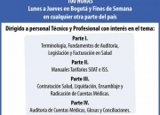 DIPLOMADO EN FACTURACION Y AUDITORIA DE CUENTAS MEDICAS EN CALI