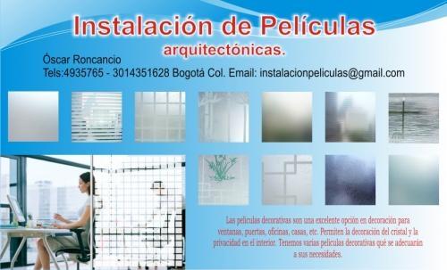 Paliculas decorativas para vidrios