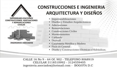 Construcciones y remodelaciones en general, reparaciones