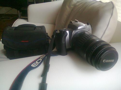 Camara canon eos rebel k2 con 3 lentes