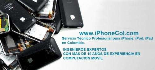Servicio tecnico profesional iphone, ipod, ipad para toda colombia