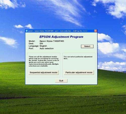 Software reseteador contador epson tx620fwd