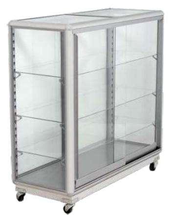 Remate de vitrinas en aluminio