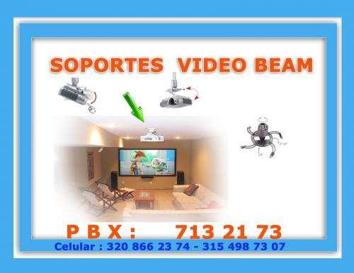 Soportes tipo araña con extencion para video beam