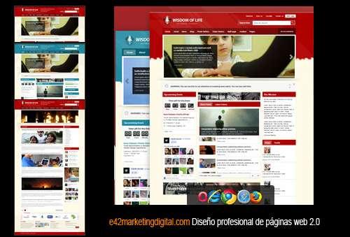Diseño profesional de páginas web 2.0 desde $500.000