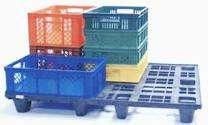 Canastas plasticas estibas para furgones y cuartos frios