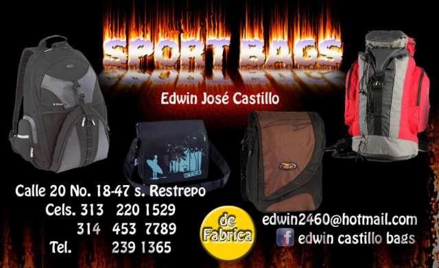 Fabrica de morrales para publicidad sport bags