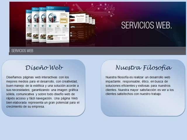 Diseños de paginas web y dominio de hosting
