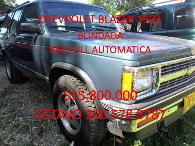 Chevrolet blazer 1993 blindada $15.800