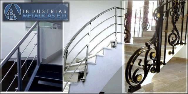 Escaleras metalicas rectas o en caracol