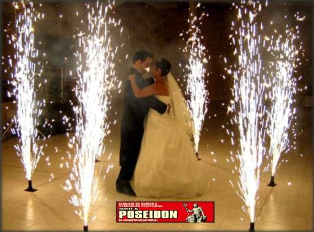 Alquiler de ventury,polvora fria y efectos especiales para bodas y eventos en bucaramanga