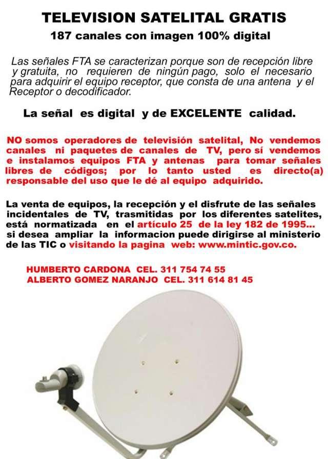 Venta e instalación de antenas satelitales