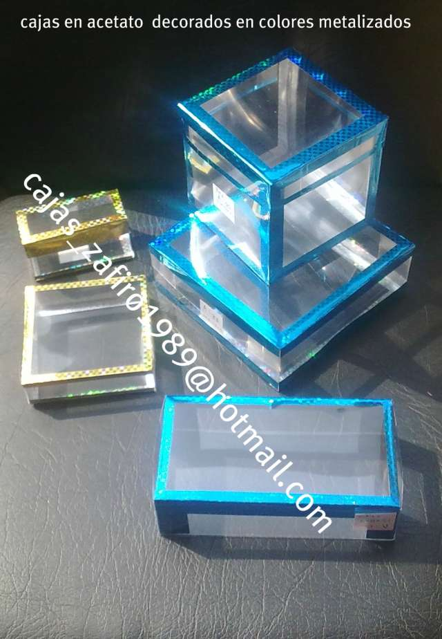Fabricamos cajas a medidas en plastico de acetato armables