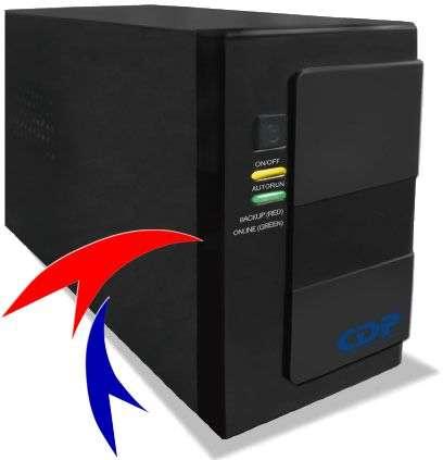 Fotos de Super lanzamiento linea eco ups cdp g-upr 506 500va 6 tomas www.tecnocompras.com 1