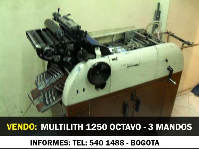Compro - vendo multilith 1250 octavo bogota