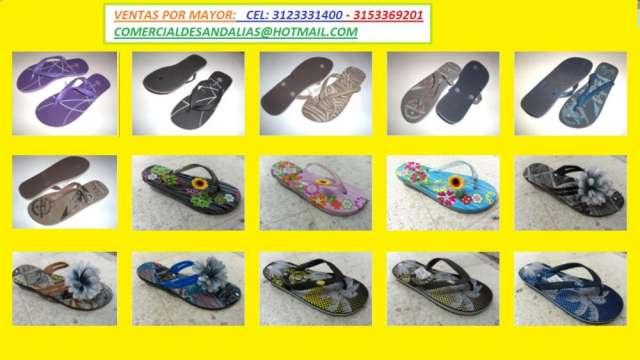 Mayoristas de chanclas, sandalias ventas por mayor 3123331400 desde $4000.