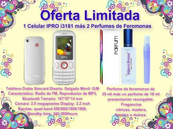 I 3181 ipro celular más perfume de feromonas promoción espectacular