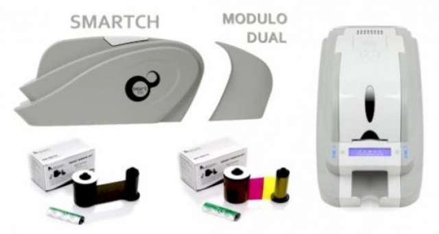 Identico termoimpresora smart ch full color, impresión de canet usb fácil uso