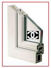 Ventanas con alfajía en material rígido pvc, puertas, vidrios