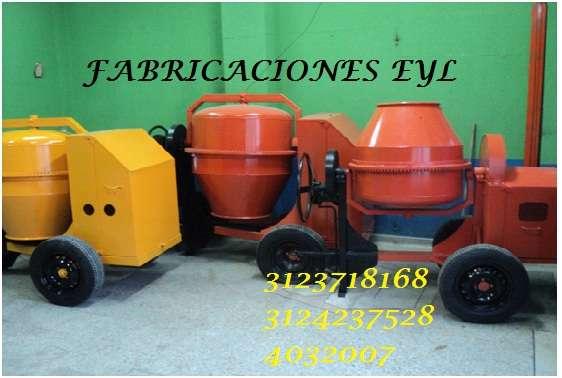 Mezcladora para concreto tipo trompo con moto