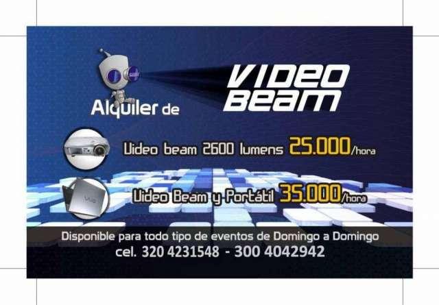 ¡alquiler de video beam 2600 lumens 3204231548!