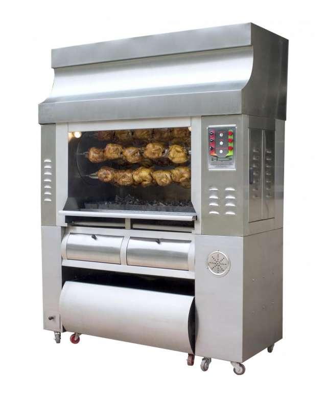 Hornos asadores de pollo, freidoras, parrillas, planchas, estufas industriales, sistemas de extraccion