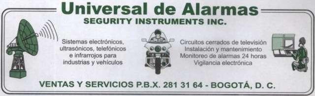 Universal de alarmas, venta y suministro de alarmas residenciales, camaras de seguridad, concertinas y cercas electricas