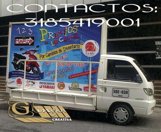Ofrecemos carro valla para publicidad