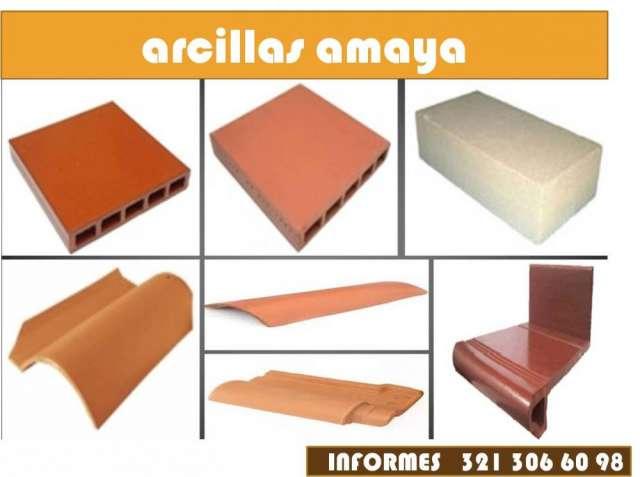 Tablon cucuta en arcillas - ladrillos en gres - bloques en gres - bloquelon en gres - tejas en gres - tubos en gres
