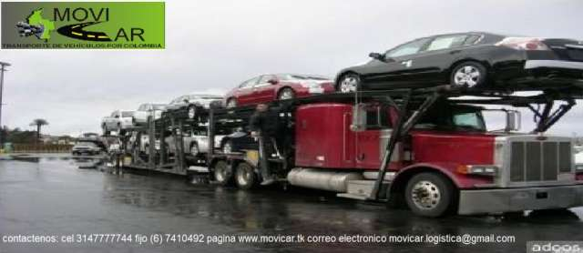 Transporte carros en niñera por colombia
