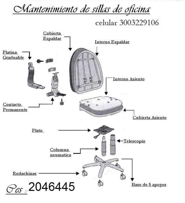 Sillas de oficina ergonómicas garantiza y mantenimiento