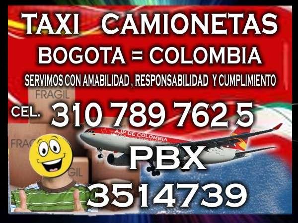 Taxi camioneta aeropuerto bogotá pbx 3514739 ce 3107897625