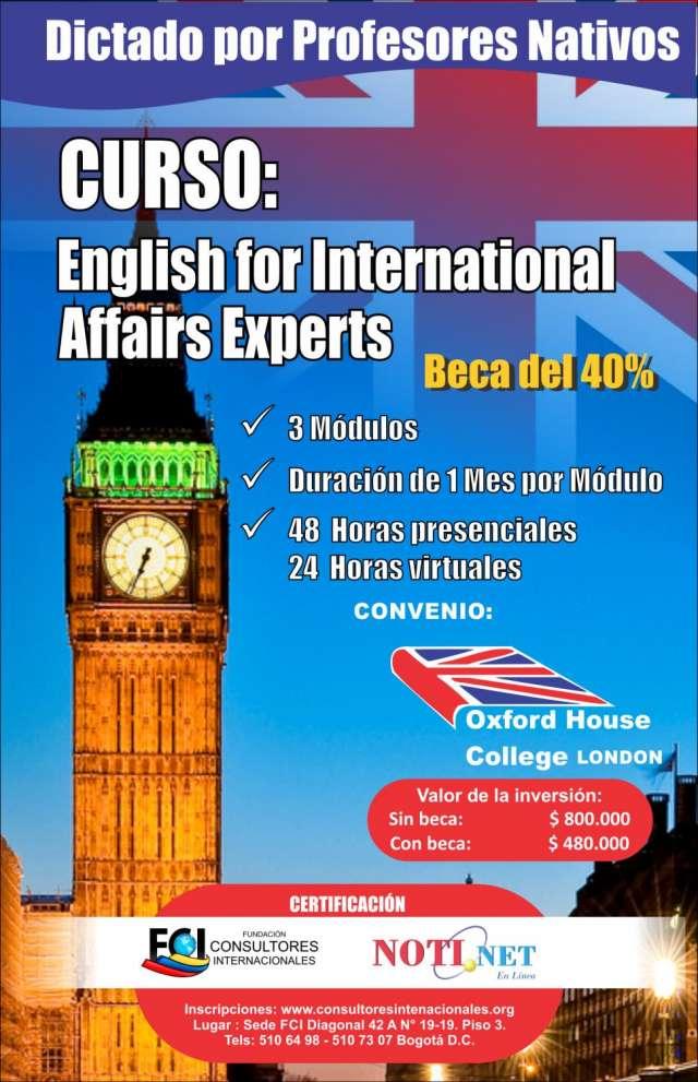 Cursos de inglés con beca de la fundación consultores internacionales de colombia