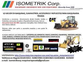 Lo mejor en maquinas, suministros, accesorios y repuestos para maquinaria pesada