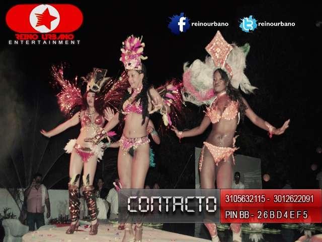 Show de garotas - show de samba - bailarinas de samba - hora loca