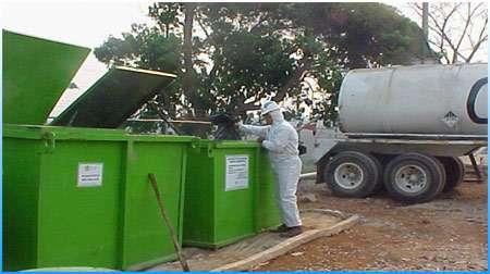 Contenedores metalicos para basura y residuos