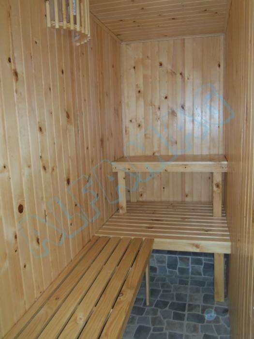 Saunas en romeron y patula pintados o naturales
