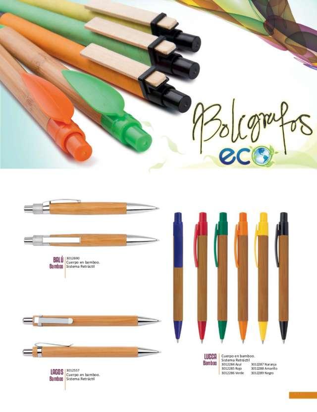 Bolígrafos ecológicos personalizados stratik
