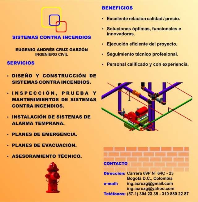 Plan de emergencia, plan de evacuación, red contra incendios, sistemas contra incendios, bogotá d.c.