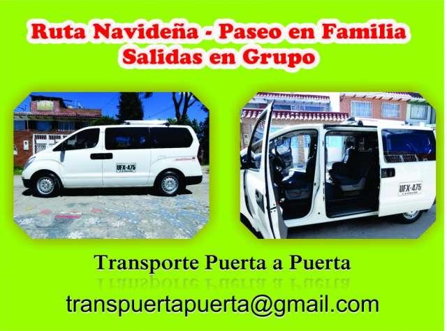 Transporte * ruta navideña - paseos en familia - salidas en grupo