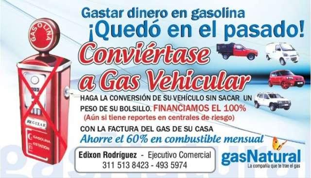 Conversión a gas natural vehicular