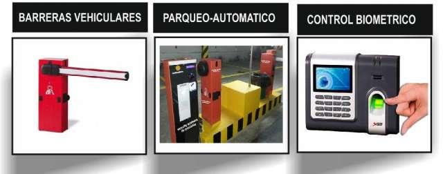 Biometricos, barreras,control de parqueadero,cctv, camaras de seguridad